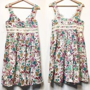 Sundance Linen Floral Lace Dress Sz 10P